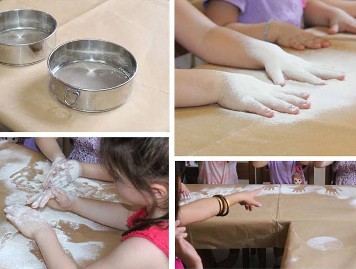 manipulating flour