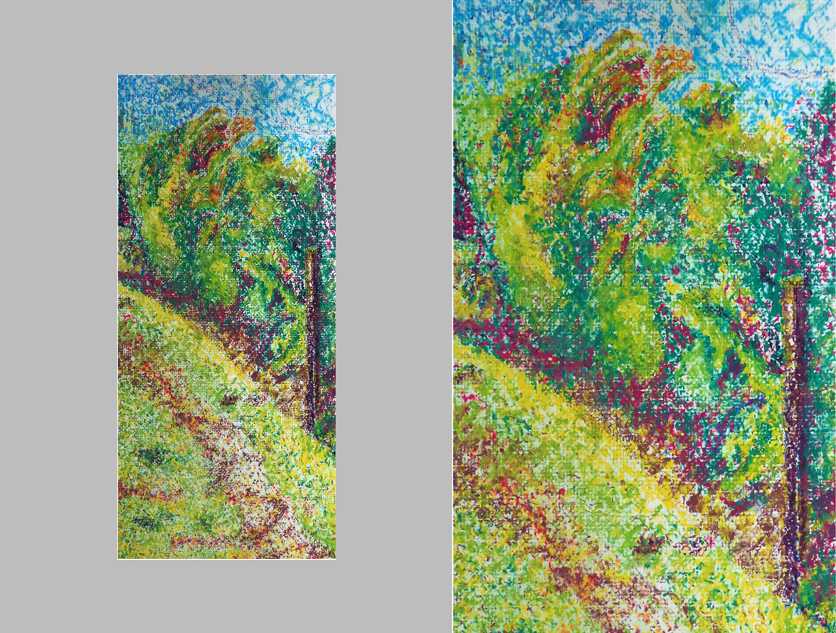 drawing+composition -oil pastels -pointillism